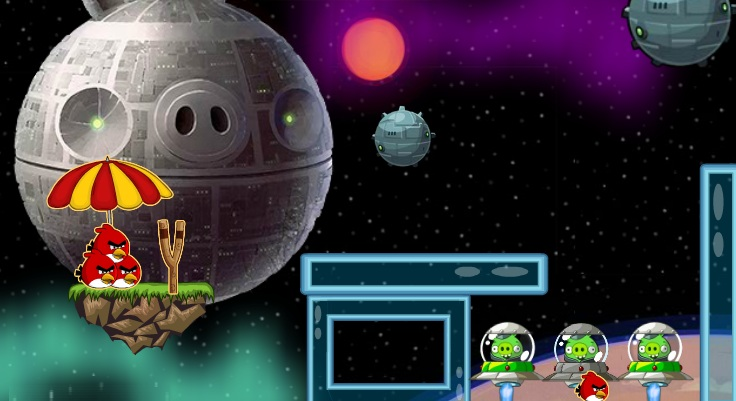 angry birds space war