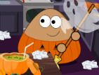 Pou Halloween Cleanup – Kids Game