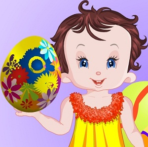 Baby Lisi Big Easter Eggs