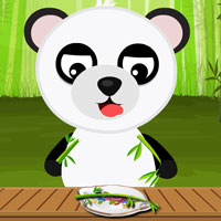 Baby Panda Bathing